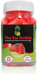 The-Ear-Buddy-Premium-Soft-Foam-Ear-Plugs,-NRR-32-Decibels,-50-Pairs